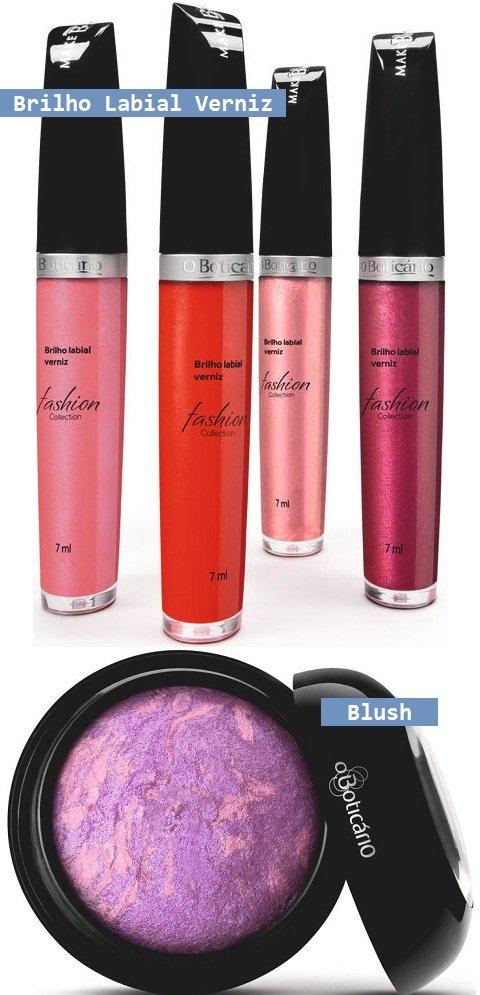 Preview Boticário inverno 2012: gloss e blush roxo